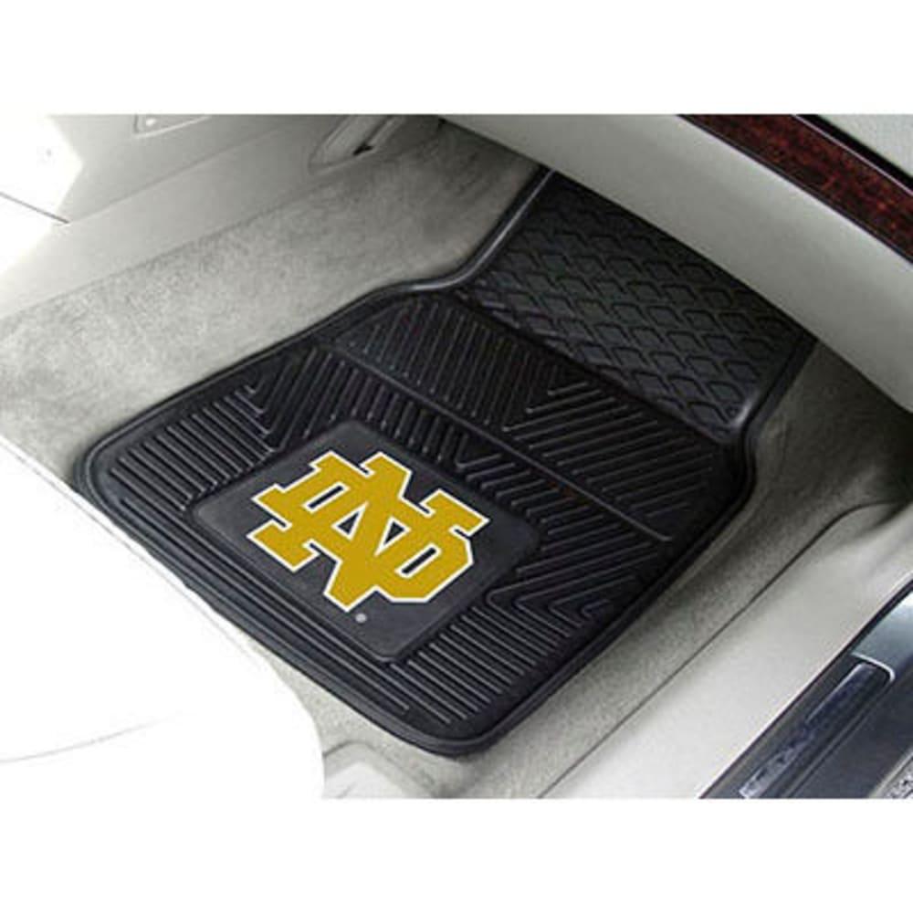 FAN MATS Notre Dame 2-Piece Vinyl Car Mat Set, Black ONE SIZE