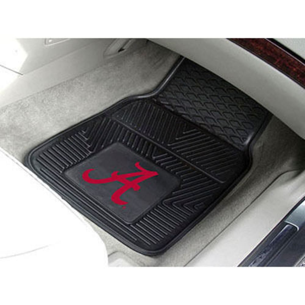 Fan Mats University Of Alabama 2-Piece Vinyl Car Mat Set, Black