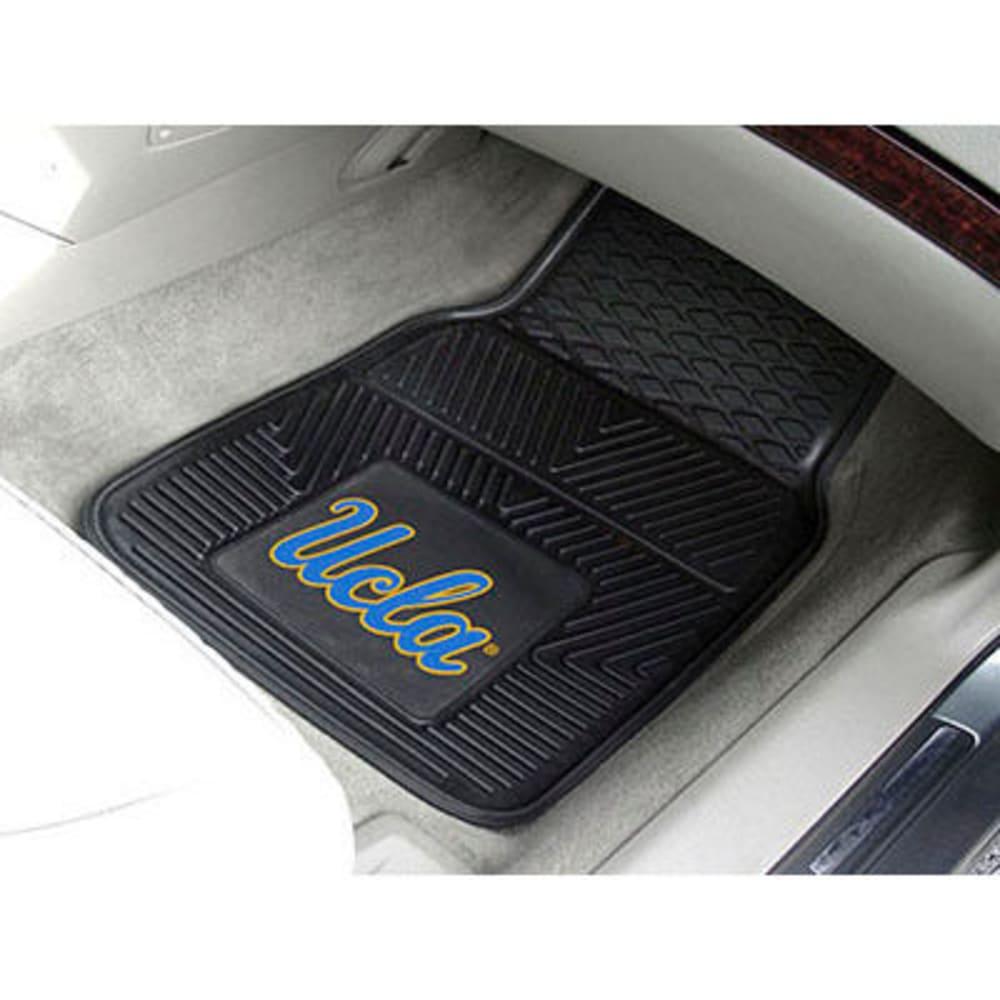 FAN MATS University of California (UCLA) 2-Piece Vinyl Car Mat Set, Black - BLACK