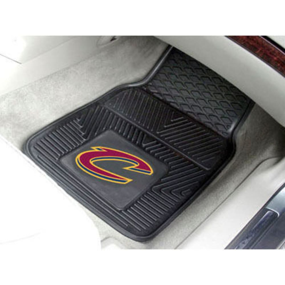 FAN MATS Cleveland Cavaliers 2-Piece Vinyl Car Mat Set, Black ONE SIZE