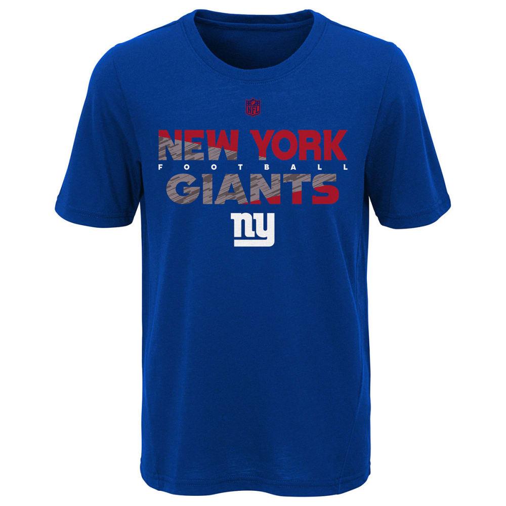 NEW YORK GIANTS Big Boys' Flux Dual Blend Short-Sleeve Tee L