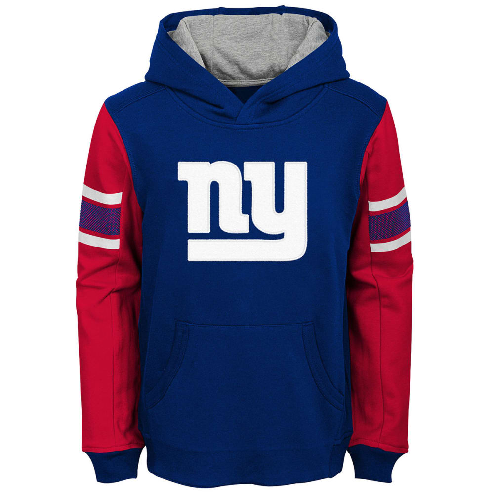 NEW YORK GIANTS Big Boys' Man in Motion Color-Blocked Pullover Hoodie - ROYAL BLUE