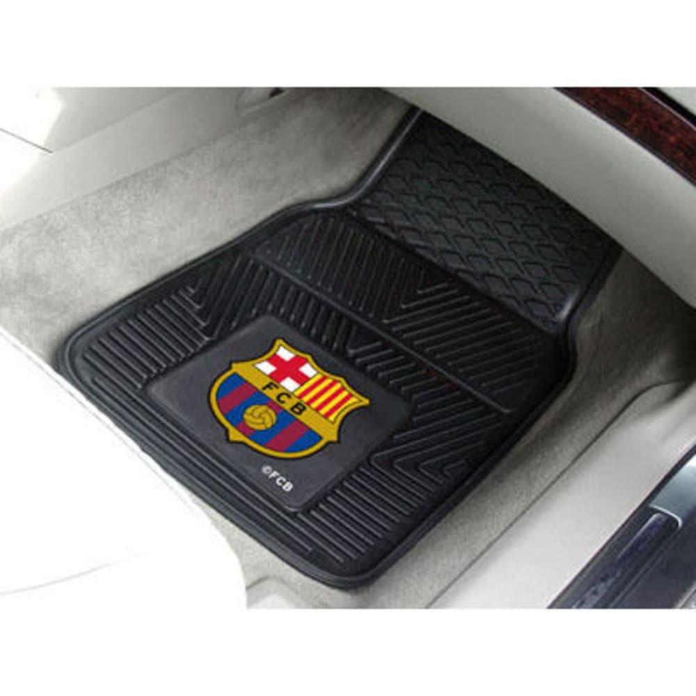 Fan Mats Fcbarcelona 2-Piece Vinyl Car Mat Set, Black