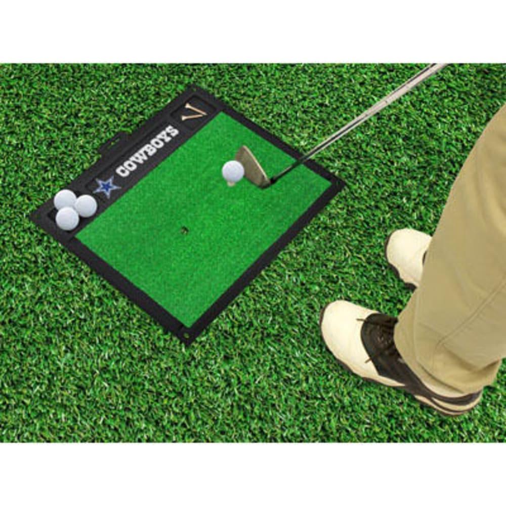 FAN MATS Dallas Cowboys Golf Hitting Mat, Green/Black - GREEN/BLACK