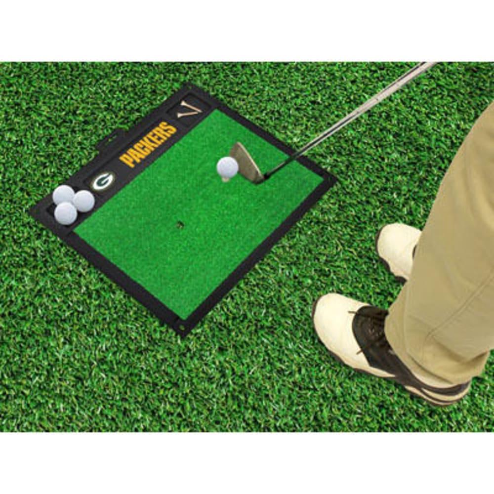 FAN MATS Green Bay Packers Golf Hitting Mat, Green/Black - GREEN/BLACK