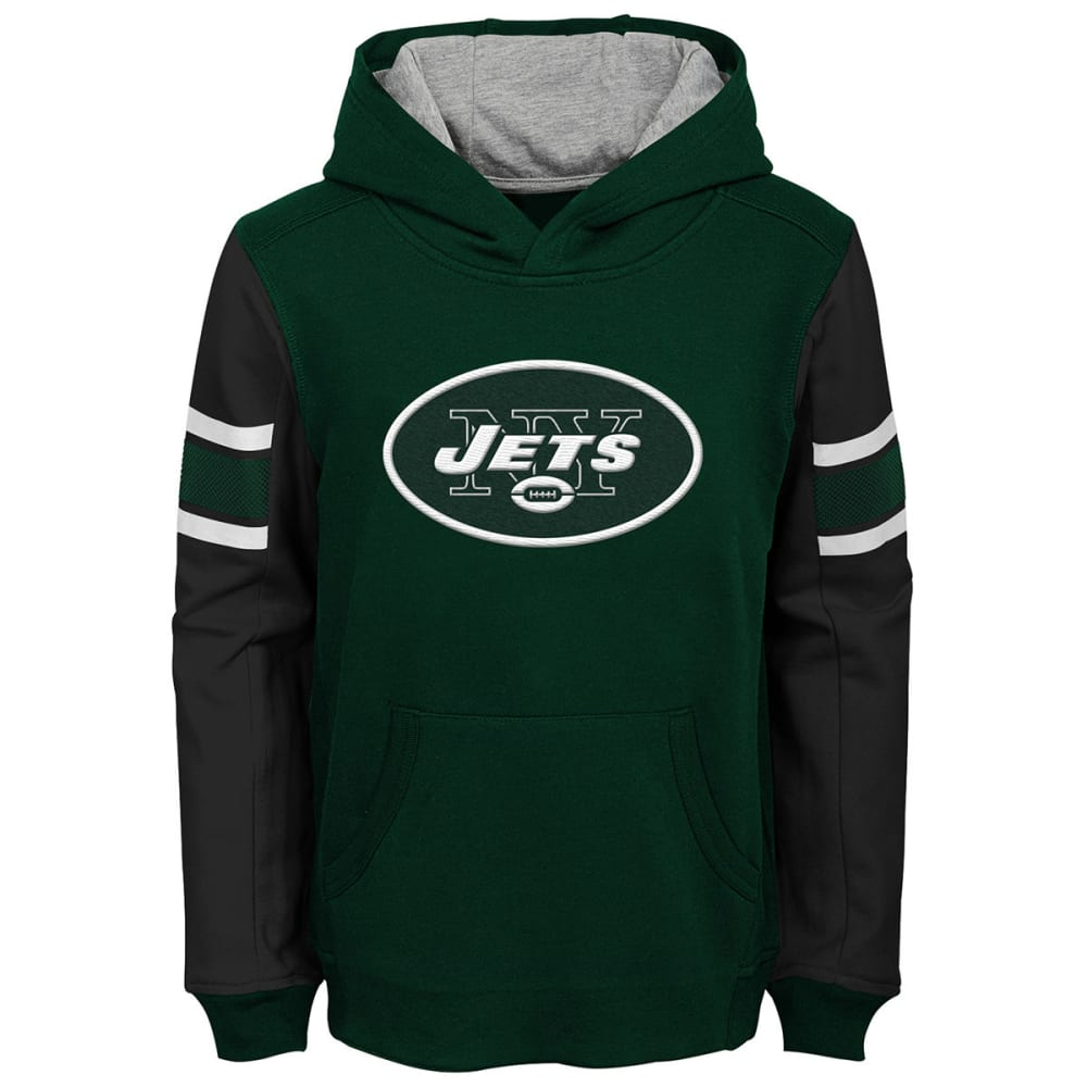 NEW YORK JETS Big Boys' Man in Motion Color-Blocked Pullover Hoodie - GREEN