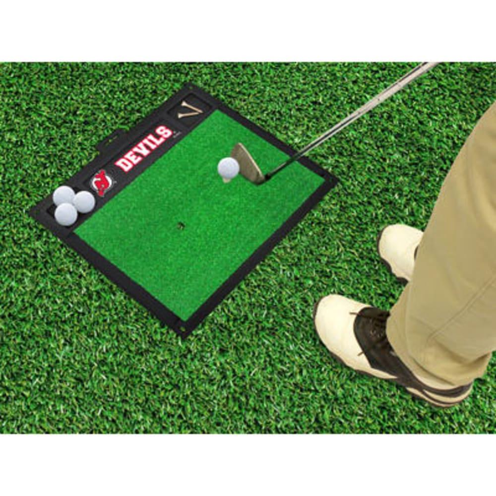 FAN MATS New Jersey Devils Golf Hitting Mat, Green/Black - GREEN/BLACK