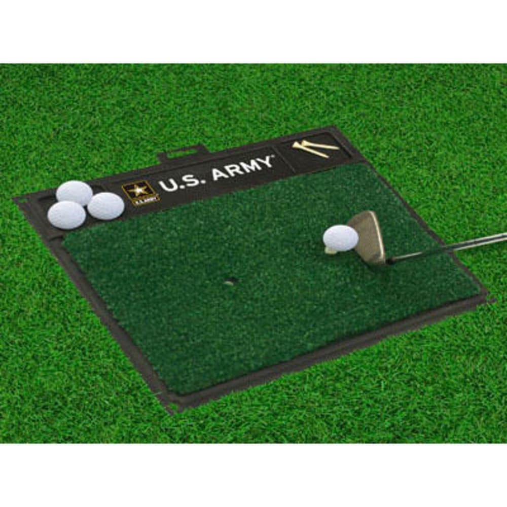 FAN MATS U.S. Army Golf Hitting Mat, Green/Black - GREEN/BLACK