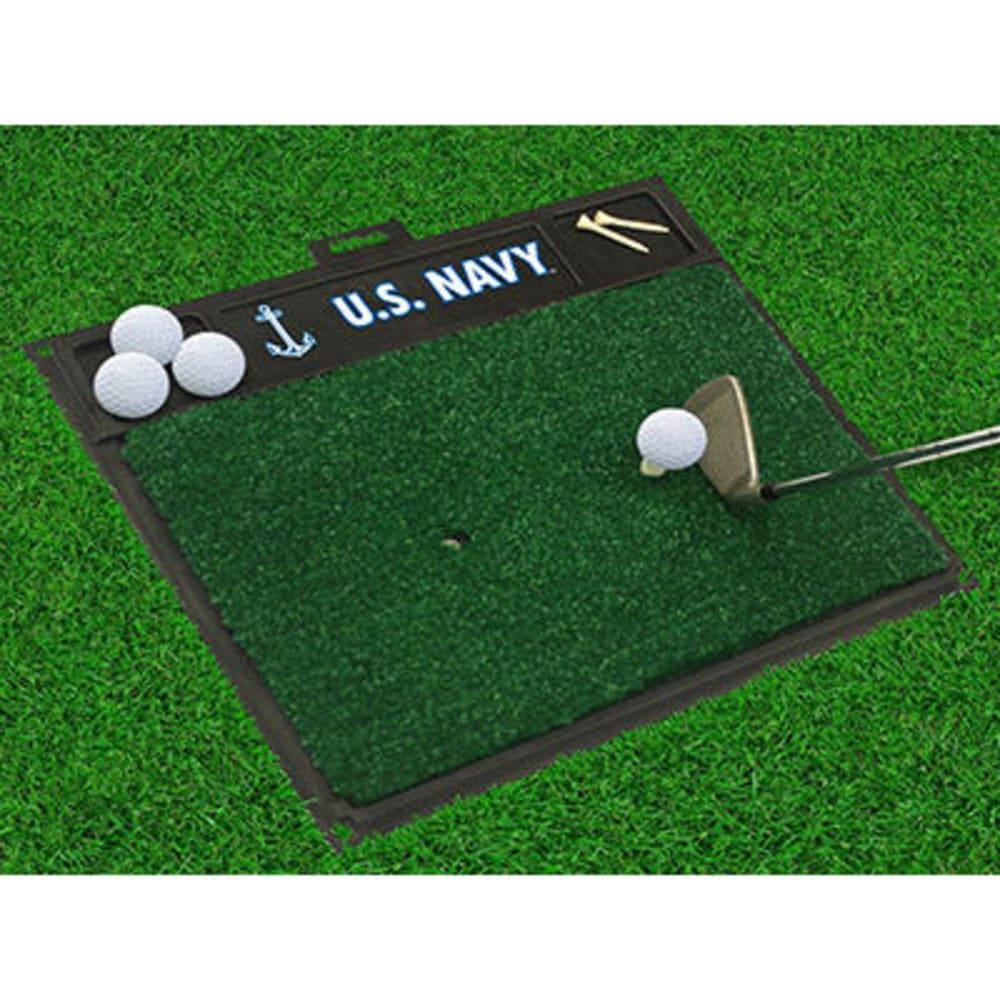 FAN MATS U.S. Navy Golf Hitting Mat, Green/Black - GREEN/BLACK