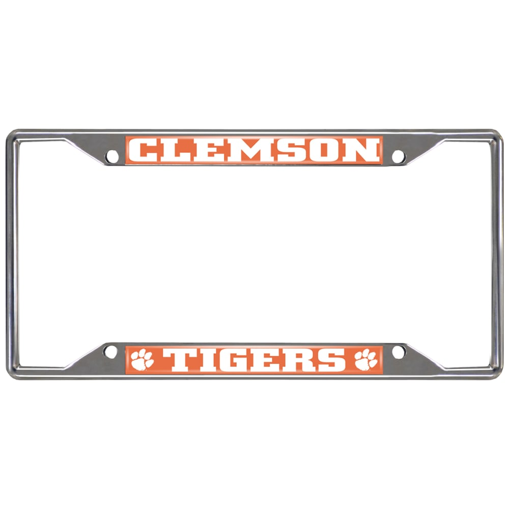 FAN MATS Clemson University Tigers License Plate Frame ONE SIZE