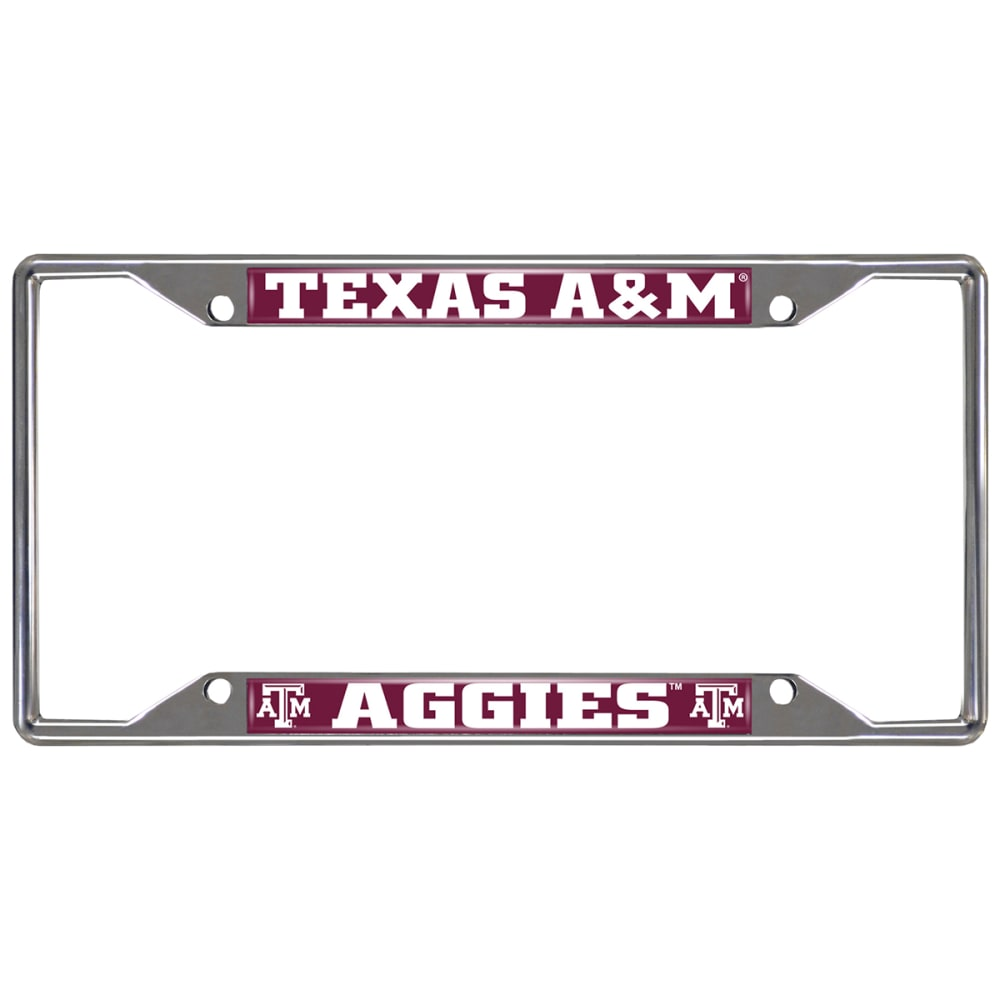 FAN MATS Texas A&M Aggies Tigers License Plate Frame ONE SIZE