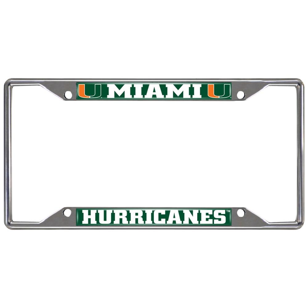 FAN MATS University of Miam Hurricanes License Plate Frame - GREEN/WHITE
