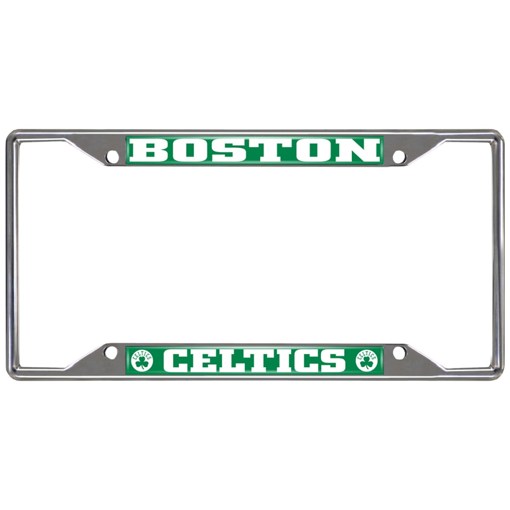 FAN MATS Boston Celtics License Plate Frame - GREEN/WHITE