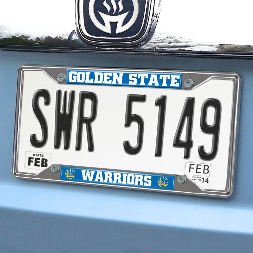 FAN MATS Golden State Warriors License Plate Frame - BLUE/WHITE