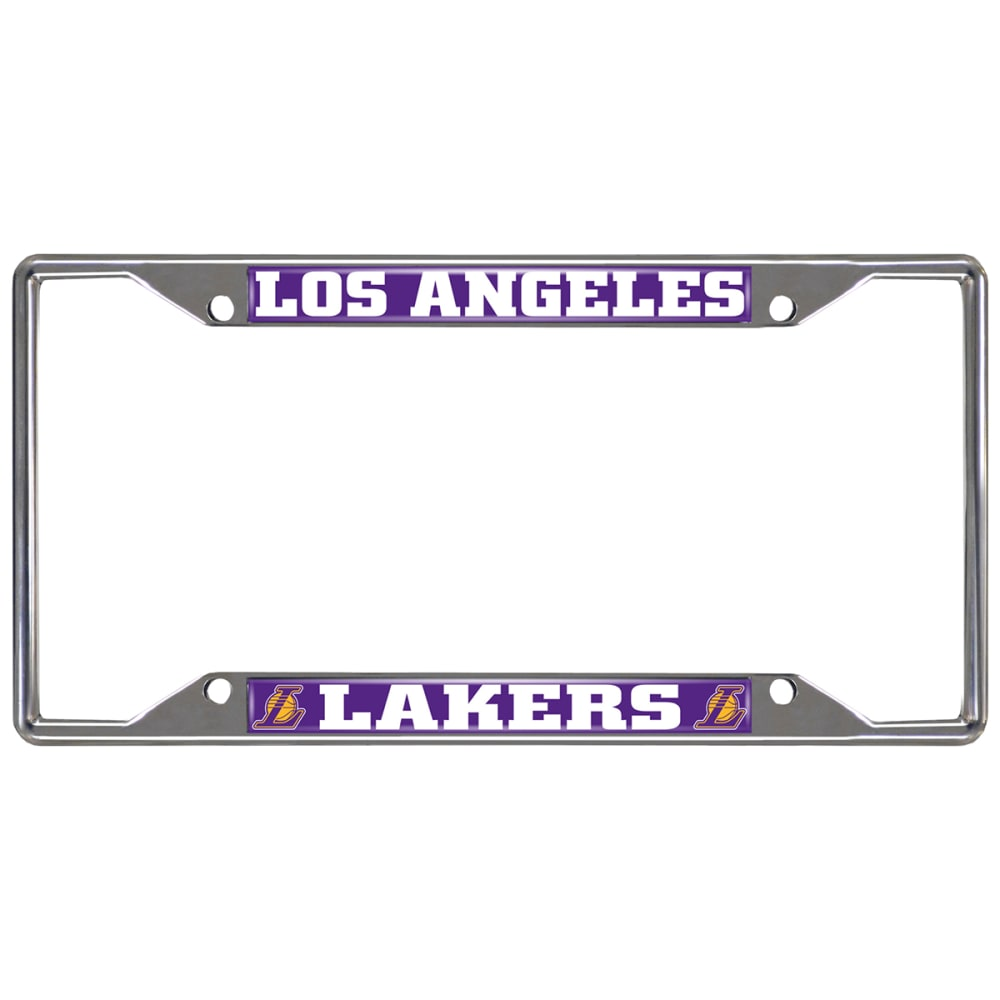 FAN MATS Los Angeles Lakers License Plate Frame - PURPLE/WHITE