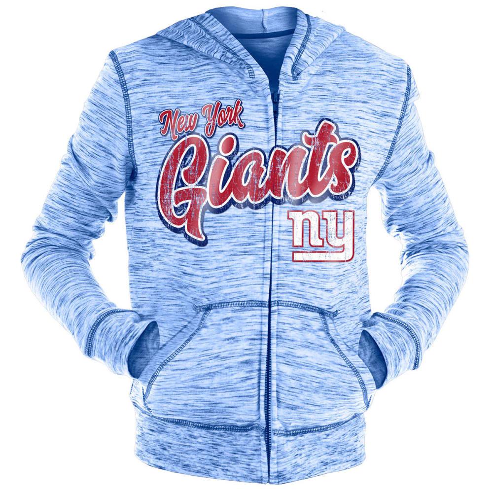 NEW YORK GIANTS Big Girls' Space-Dye Full-Zip Hoodie - ROYAL BLUE