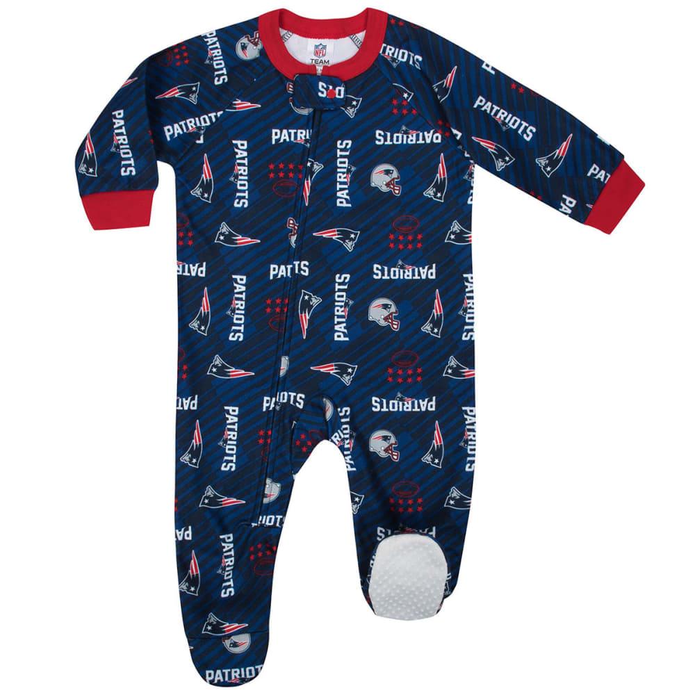 NEW ENGLAND PATRIOTS Infants' Printed Blanket Sleeper Pajamas - NAVY