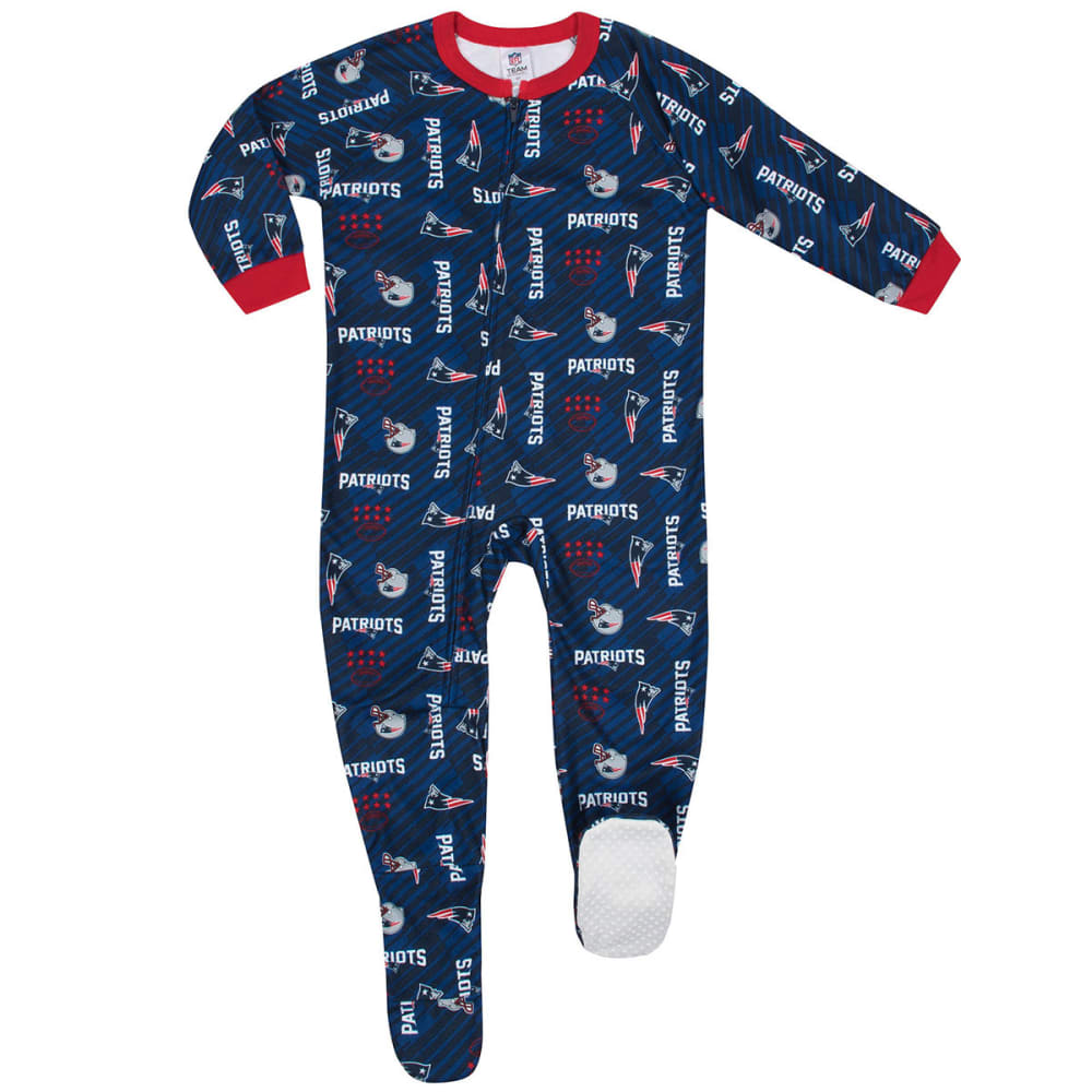 NEW ENGLAND PATRIOTS Toddlers' Printed Blanket Sleeper Pajamas - NAVY