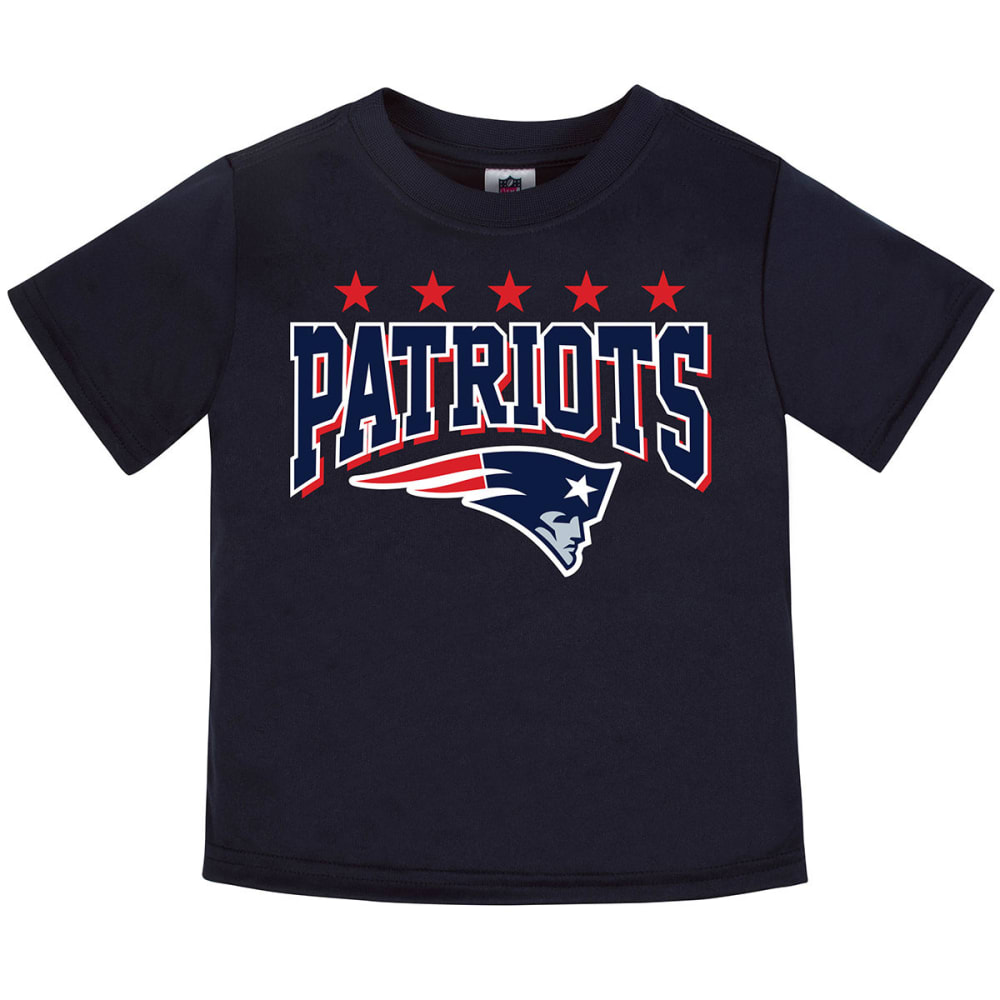 NEW ENGLAND PATRIOTS Toddler Boys' Poly Short-Sleeve Tee - NAVY