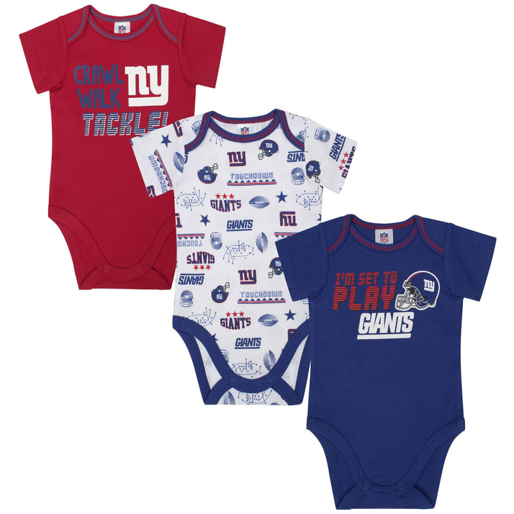 NEW YORK GIANTS Infant Boys' Bodysuits, 3-Pack - ROYAL BLUE