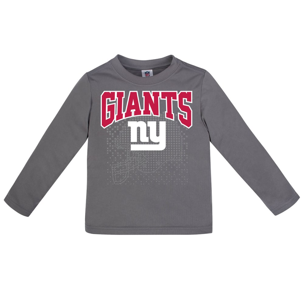 NEW YORK GIANTS Toddler Boys' Poly Long-Sleeve Tee - GREY