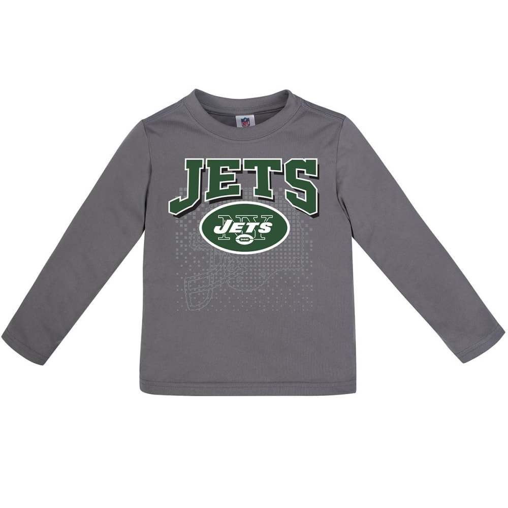 NEW YORK JETS Toddler Boys' Poly Long-Sleeve Tee - GREY