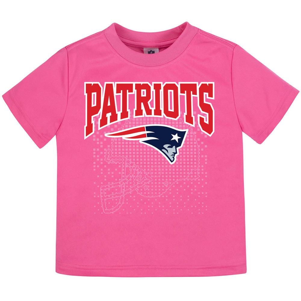 NEW ENGLAND PATRIOTS Toddler Girls' Pink Poly Short-Sleeve Tee - PINK