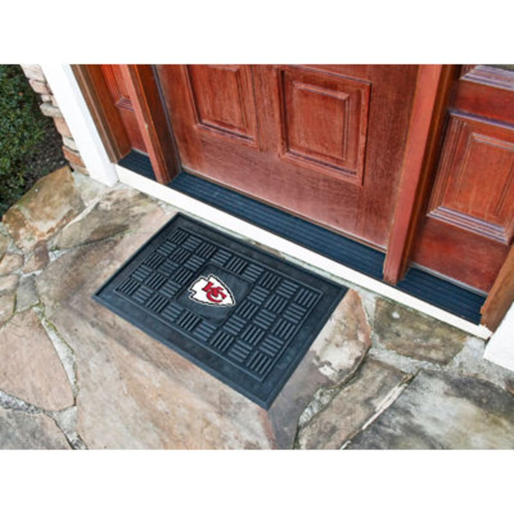 Fan Mats Kansas City Chiefs Medallion Door Mat, Black