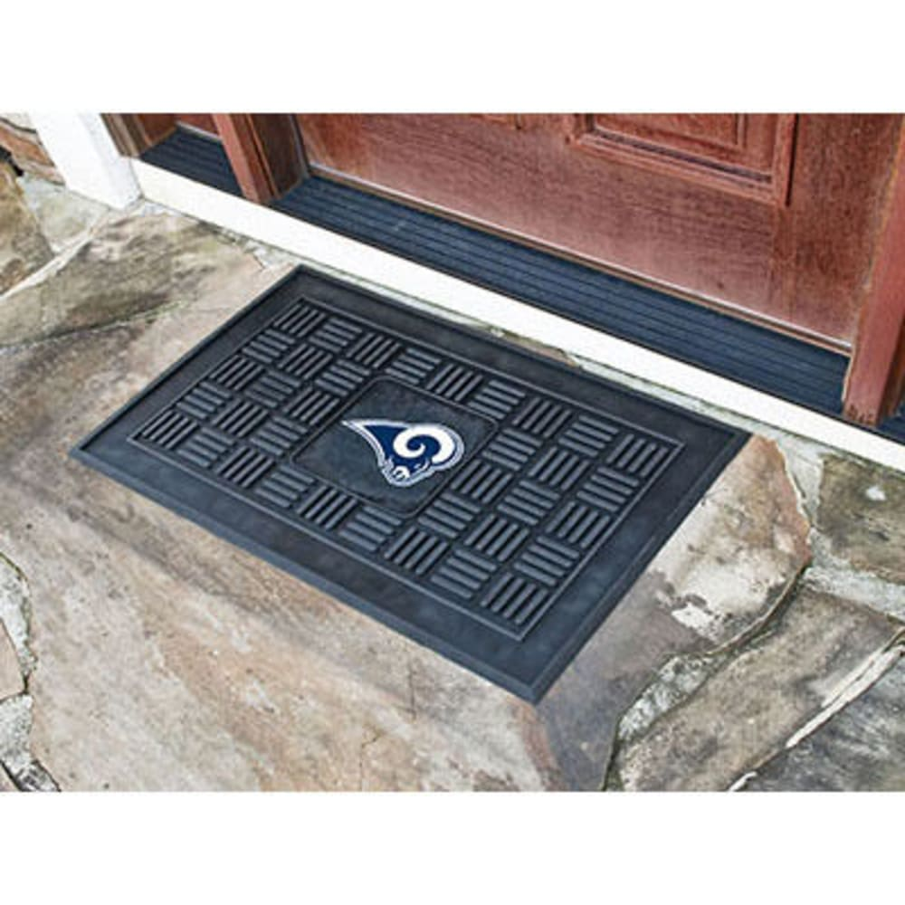 Fan Mats Los Angeles Rams Medallion Door Mat, Black