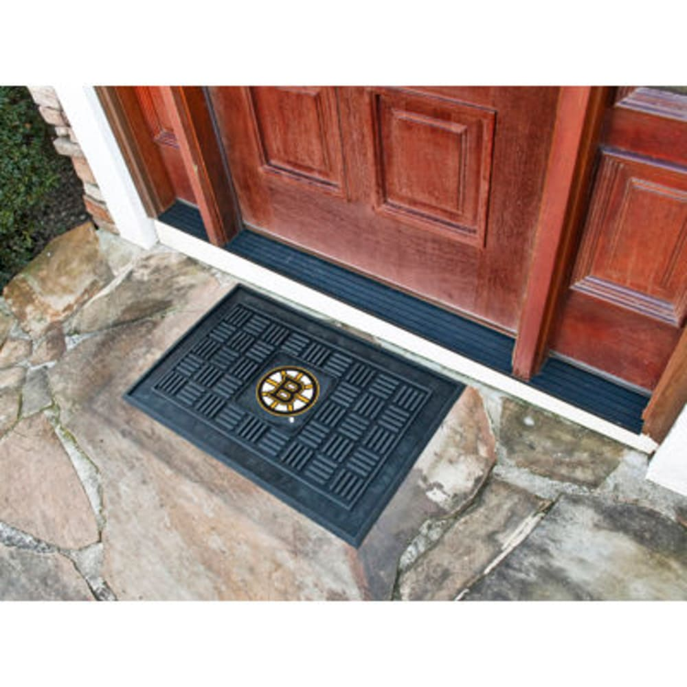 Fan Mats Boston Bruins Medallion Door Mat, Black