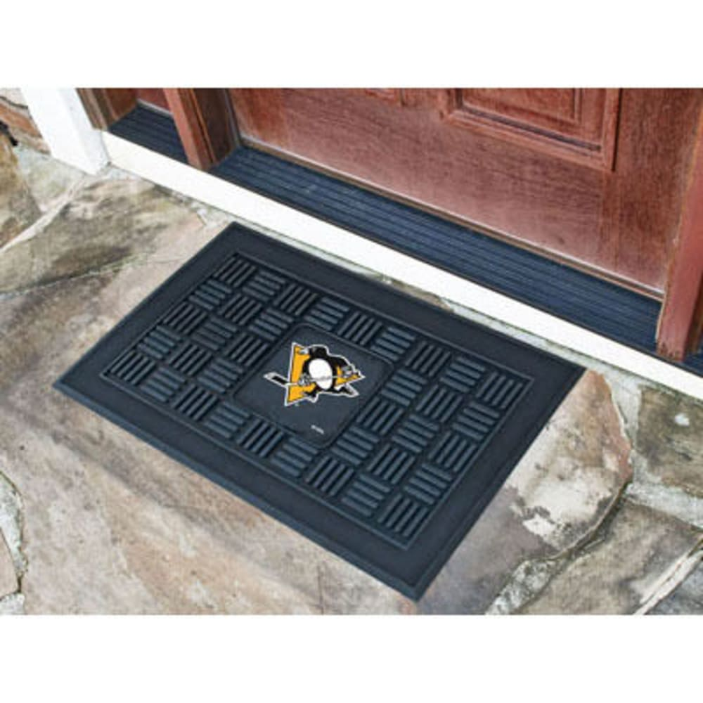 Fan Mats Pittsburgh Penguins Medallion Door Mat, Black