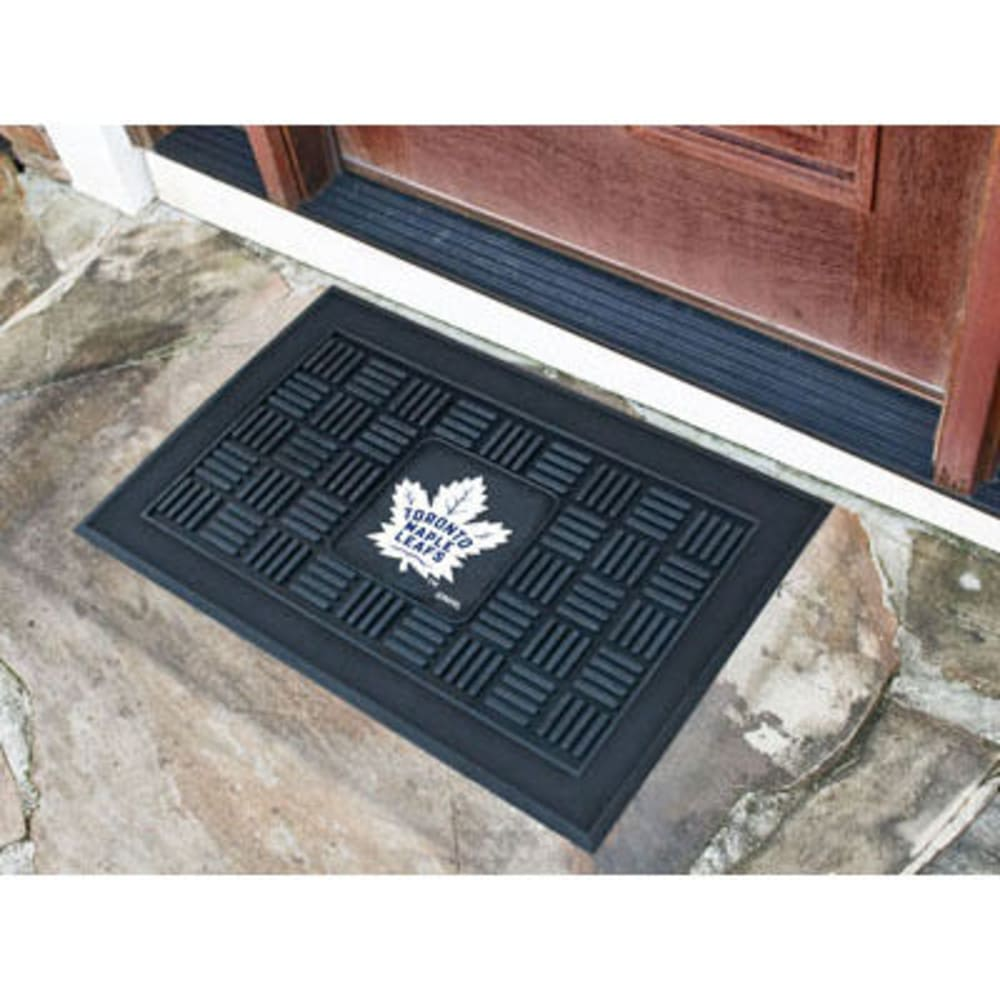 Fan Mats Toronto Maple Leafs Medallion Door Mat, Black