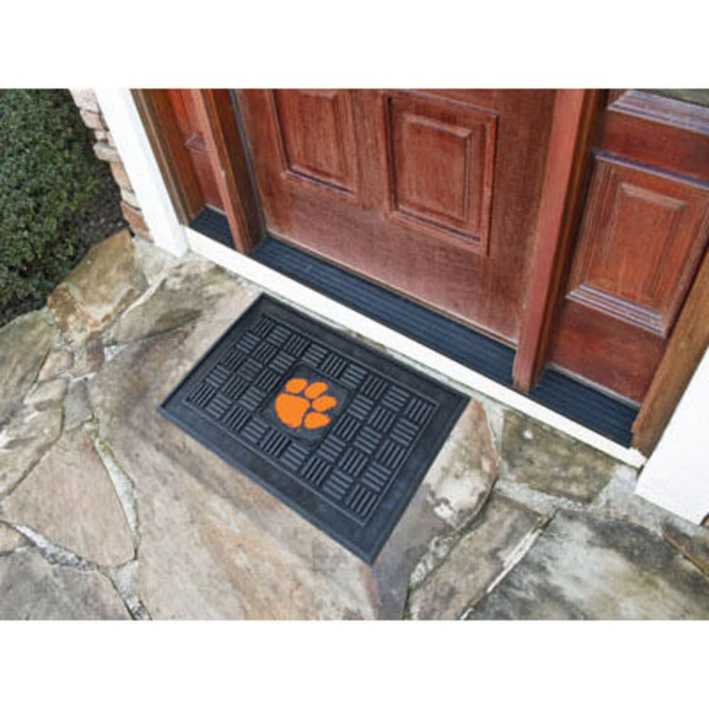 Fan Mats Clemson University Medallion Door Mat, Black