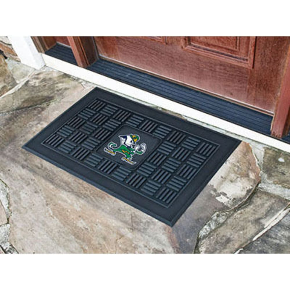 Fan Mats Notre Dame Medallion Door Mat, Black