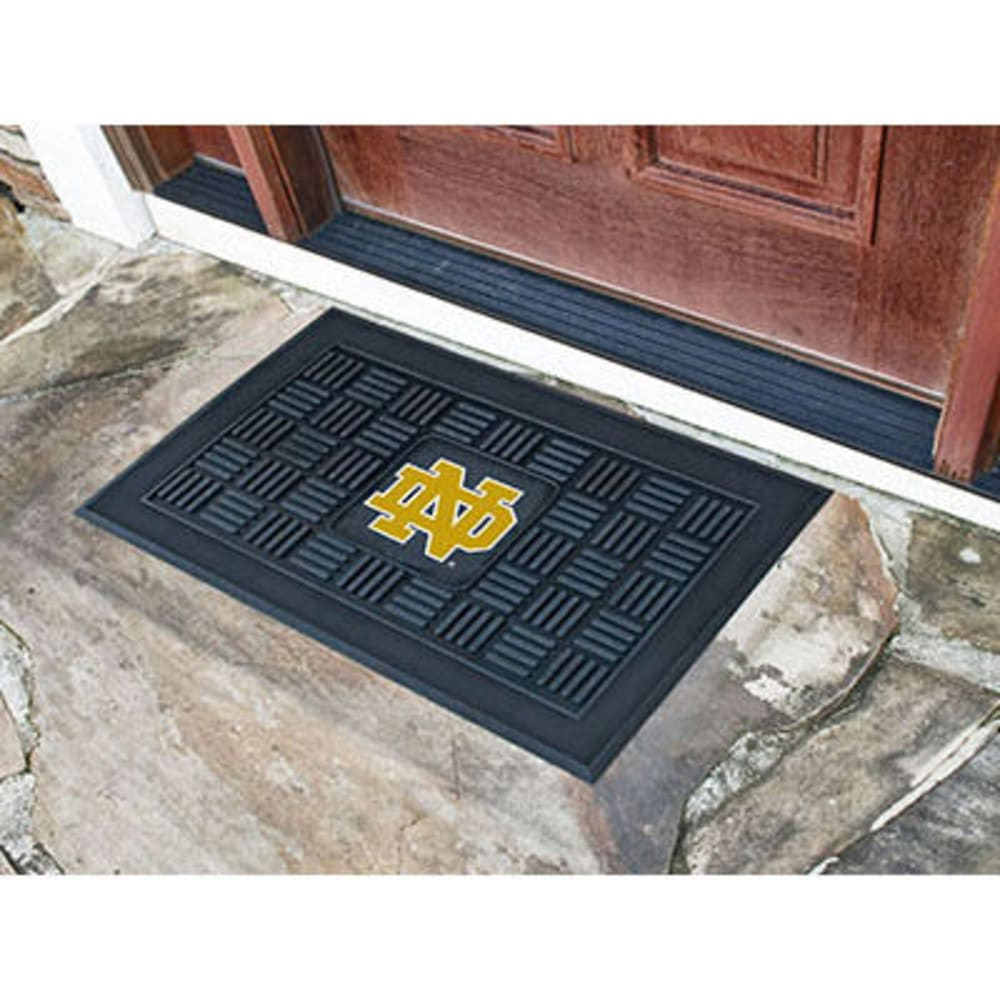 FAN MATS Notre Dame Medallion Door Mat, Black ONE SIZE