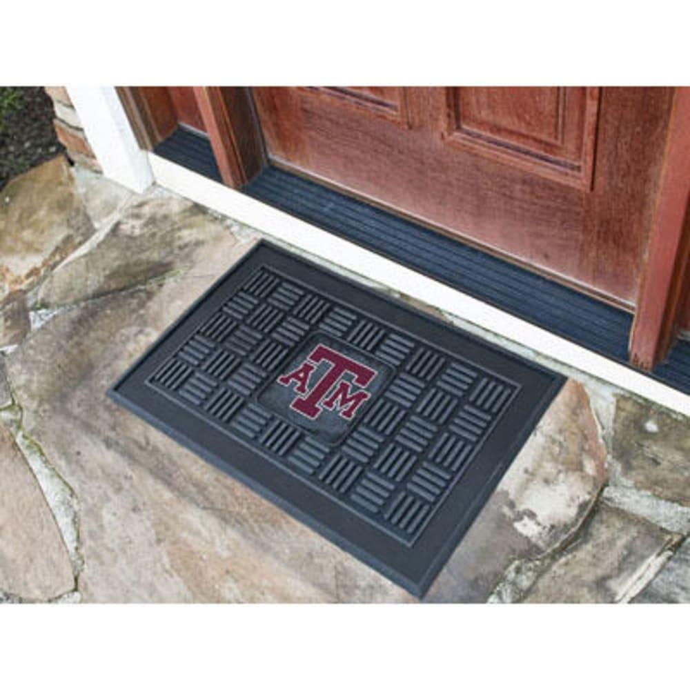 FAN MATS Texas A&M University Medallion Door Mat, Black ONE SIZE
