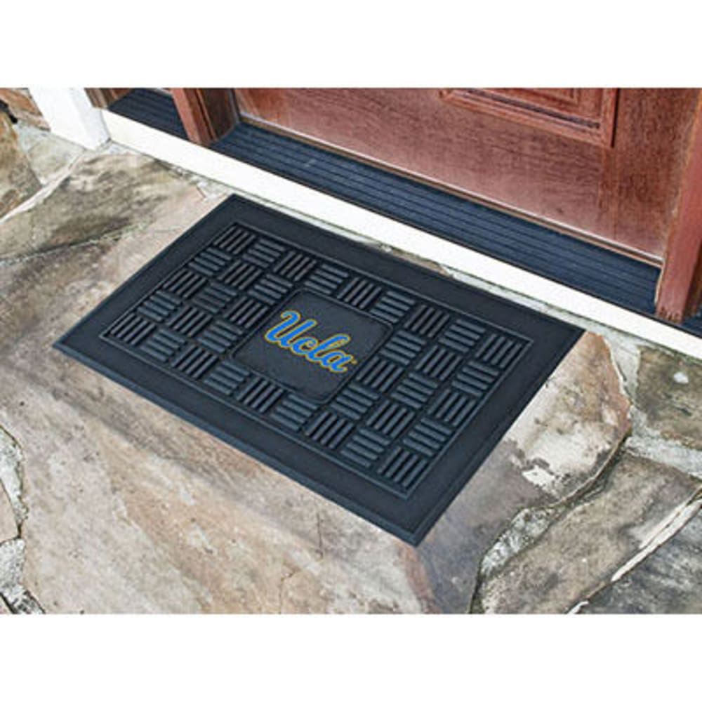FAN MATS University of California (UCLA) Medallion Door Mat, Black - BLACK