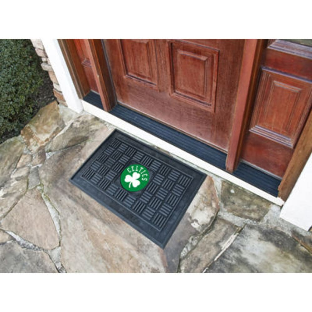 Fan Mats Boston Celtics Medallion Door Mat, Black