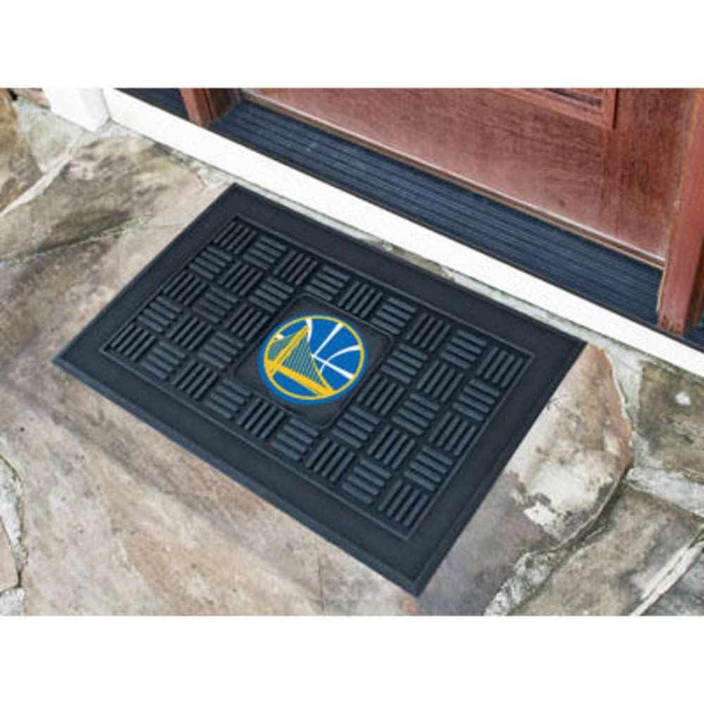 Fan Mats Golden State Warriors Medallion Door Mat, Black