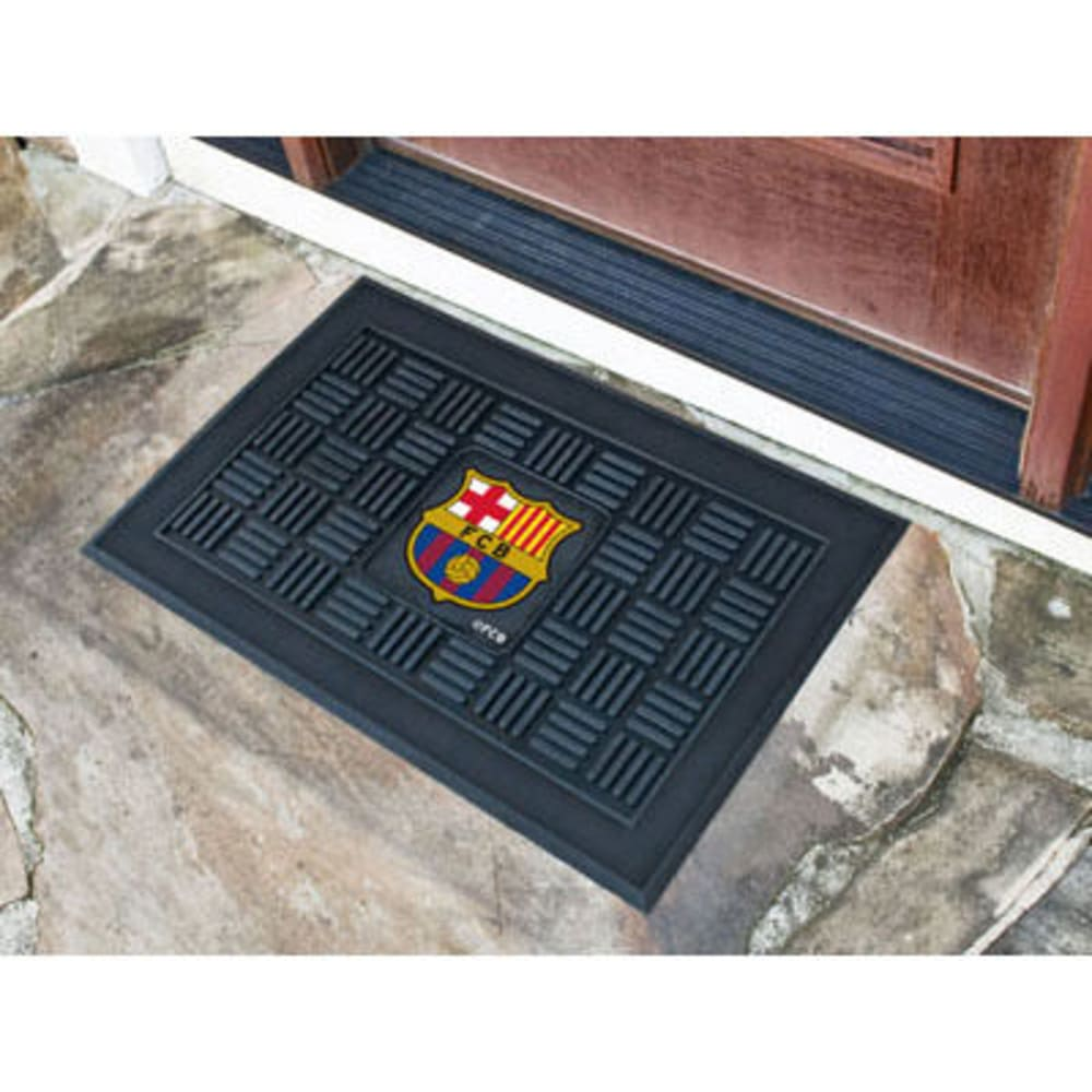 Fan Mats Fcbarcelona Medallion Door Mat, Black