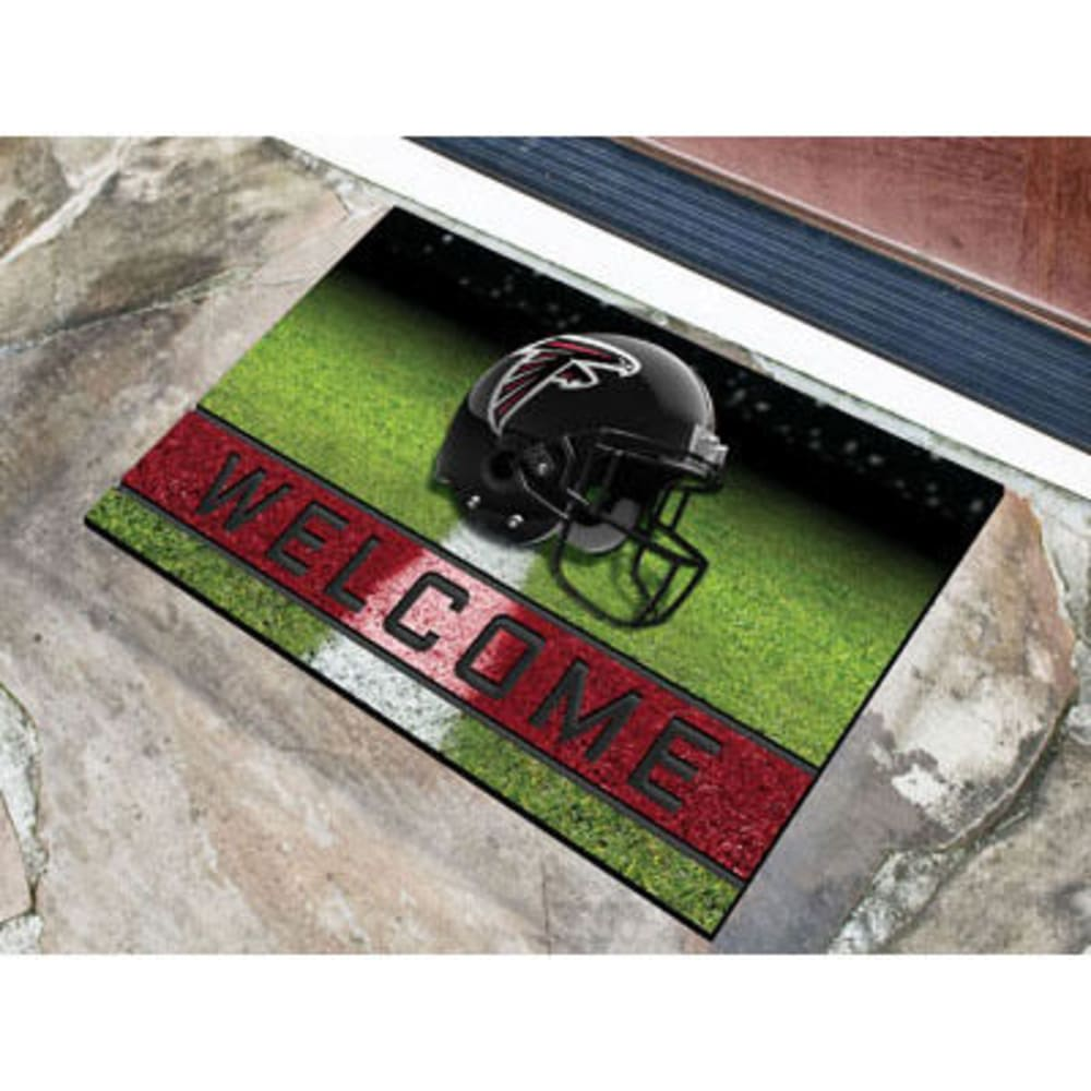 Fan Mats Atlanta Falcons Crumb Rubber Door Mat, Black/red