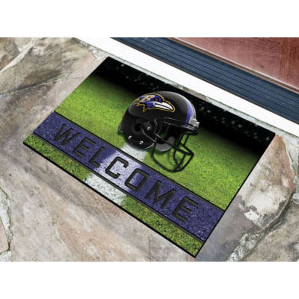 Fan Mats Baltimore Ravens Crumb Rubber Door Mat, Black