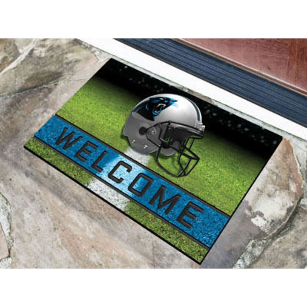 Fan Mats Carolina Panthers Crumb Rubber Door Mat, Black/blue