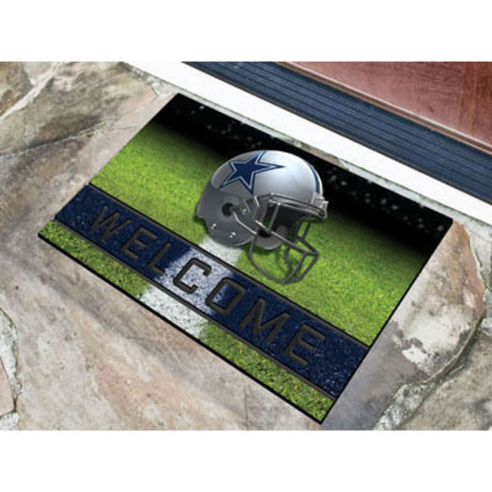 FAN MATS Dallas Cowboys Crumb Rubber Door Mat, Black/Blue - BLACK/BLUE