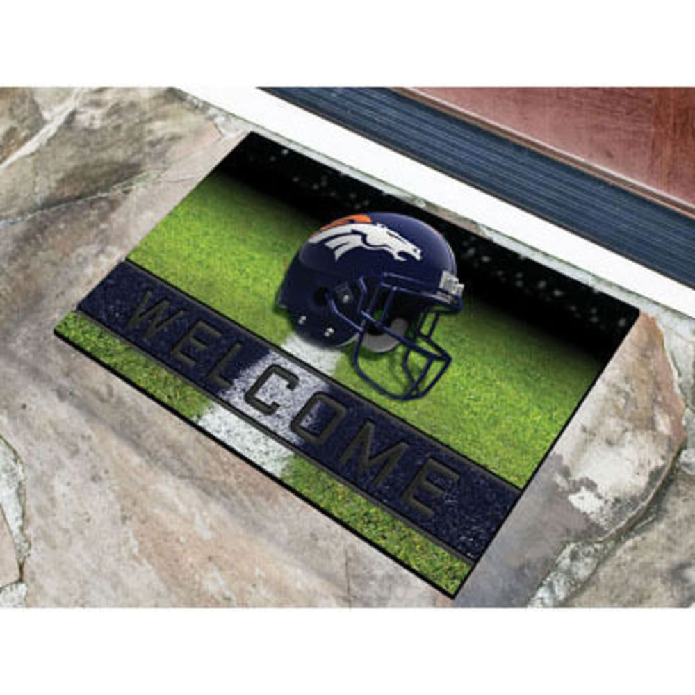 Fan Mats Denver Broncos Crumb Rubber Door Mat, Black/blue