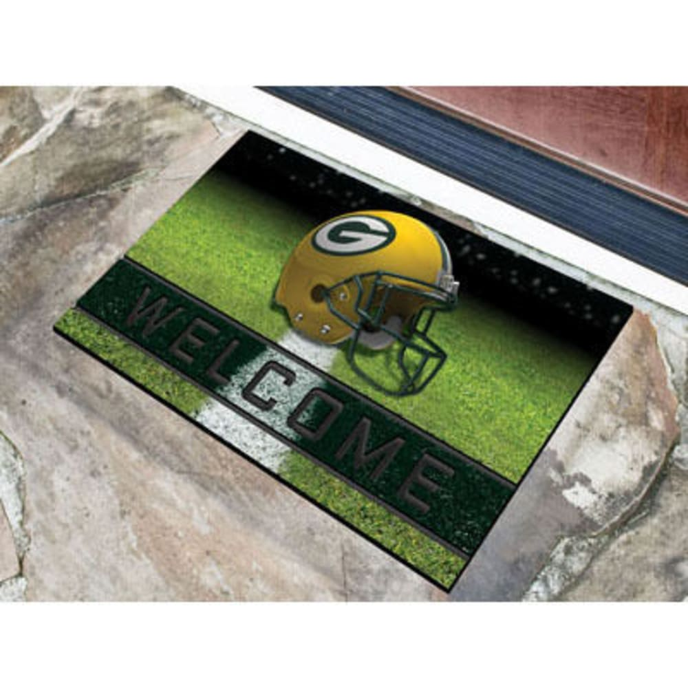 Fan Mats Green Bay Packers Crumb Rubber Door Mat, Black/green