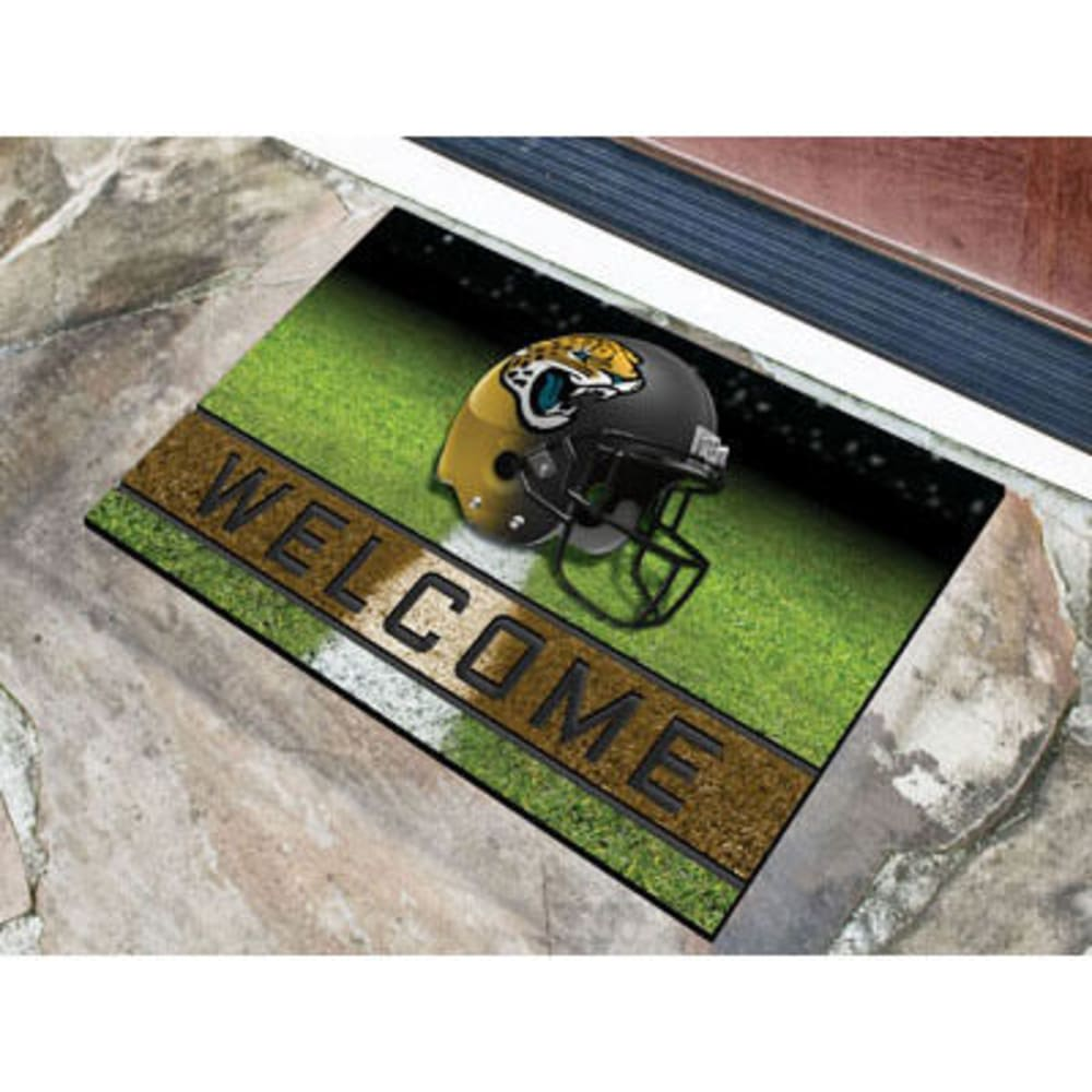 Fan Mats Jacksonville Jaguars Crumb Rubber Door Mat, Black/gold