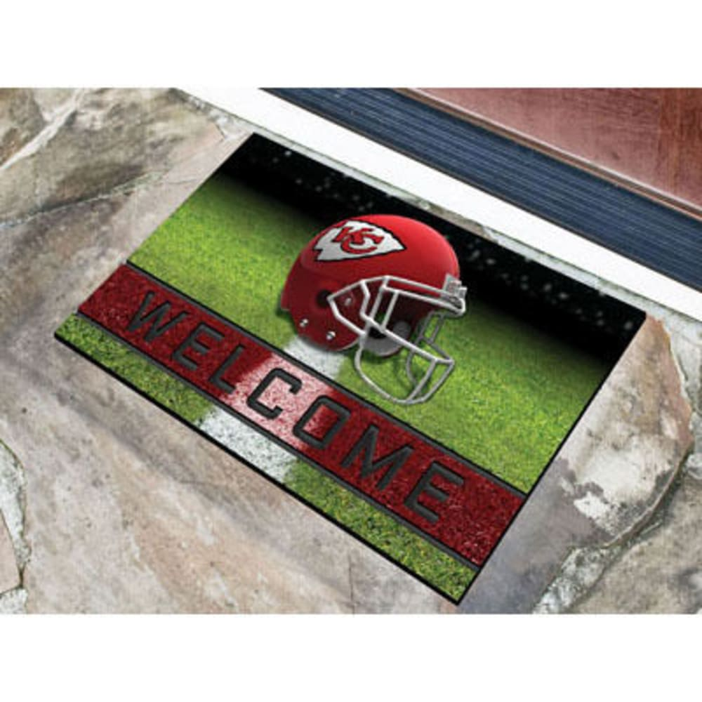 Fan Mats Kansas City Chiefs Crumb Rubber Door Mat, Black/red