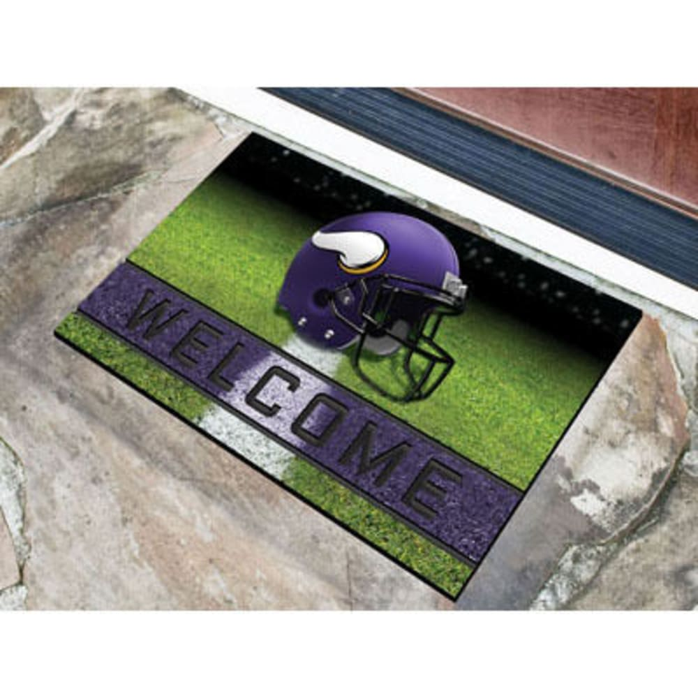 Fan Mats Minnesota Vikings Crumb Rubber Door Mat, Black/purple