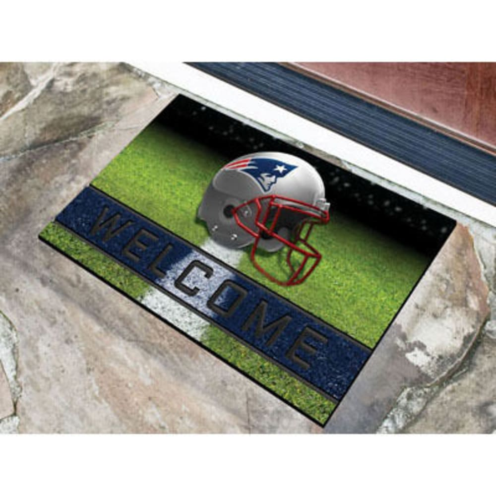 Fan Mats New England Patriots Crumb Rubber Door Mat, Black/blue